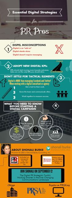 New Infographic: Essential Digital Strategies for PR Pros - learn more about this #PRSAseminar