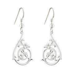 Earrings 98484: New Solvar Solvar Sterling Silver Shamrock Spiral Drop Earrings -> BUY IT NOW ONLY: $81.5 on eBay!