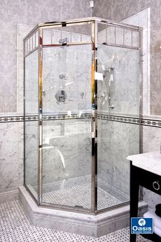 For the classic look of the and the Oasis Classic shower enclosure offers the sound and feel of unsurpassed quality. Glass Shower Doors, Bathroom Shower Doors, Shower Doors, Shower Door Panel, Luxury Shower, Bathrooms Remodel, Bathroom Decor, Tub Enclosures, Classic Showers
