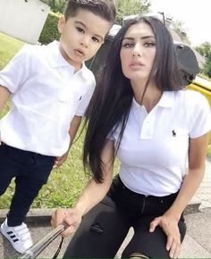 Matching mommy and son outfit Mother Son Matching Outfits, Mom And Son Outfits, Outfits Niños, Mother Daughter Outfits, Baby Boy Outfits, Trendy Outfits, Mommy And Me Shirt, Mommy And Son, Mom Son