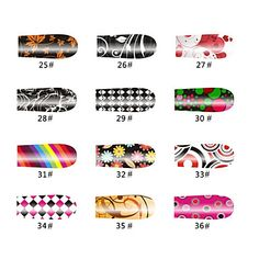 Rainbow 20 Tips Nail Art Stickers