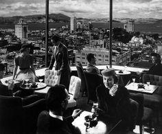Top of the Mark. Mark Hopkins Hotel San Francisco. photo by Ansel Adams.
