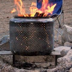 Tried this in our fire pit to burn garbage and it works perfectly!