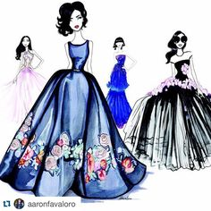 "Gidget Bowden on Instagram: ""#Repost @aaronfavaloro with @repostapp. ・・・ Original couture :) now available at www.aaronfavaloro.com I hope you enjoy these original watercolour illustrations, would make an epic collection/series on any wall. X"""