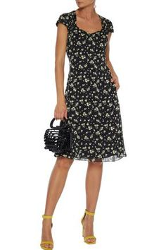Shop on-sale Floral-print burnout georgette dress. Browse other discount designer Knee Length Dress & more luxury fashion pieces at THE OUTNET Popular Dresses, Dresses For Sale, Dresses For Work, Dress Sale, Knee Length Dresses, Jacket Dress, Designer Dresses, Dress Outfits, Luxury Fashion
