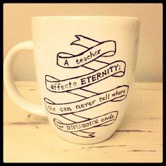 Sharpie mug as teacher gift