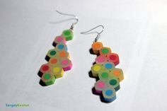 Color pencil earrings by WhaleVoid #color_pencils #earrings