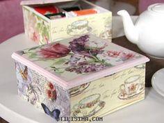 caja de te Painting On Wood, Diy Painting, Pretty Storage Boxes, Cigar Box Crafts, Decoupage Wood, Art Decor, Decoration, Tea Box, Pretty Box