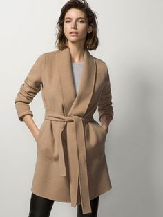 ROBE COAT WITH ROUNDED LAPEL - Coats - WOMEN - Georgia