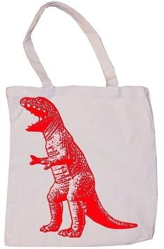 Dinosaur tote party bag