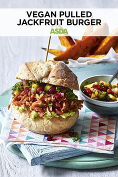 Add a tasty twist with this BBQ favourite, by swapping pulled pork for jackfruit. Zesty flavours and a spicy kick make this hearty, vegan burger the star of any summer party or gathering. Vegetarian Recipes Dinner, Vegan Recipes, Dinner Recipes, Jackfruit Burger, Plant Based Burgers, Sweet Potato Wedges, Vegan Burgers, Asda, Plant Based Diet
