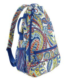 Look what I found on #zulily! Marina Paisley Sling Tennis Backpack by Vera Bradley #zulilyfinds
