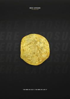 Hidden Persuasion Icon. Mere Exposure - Lays Cheese Onion