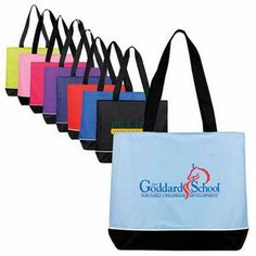 """Promotional Products Large zippered promo tote bag (18""""x15""""x5"""")"""