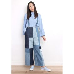 d/s by Drive Store Patchwork Denim Overalls