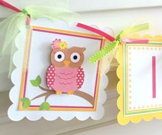 "Owls are so 'in' right now! ""Guess HOO's turning one?"" themed birthday party. It's a Girl Banner by ToadallyCuteParties on Etsy, $16.00"