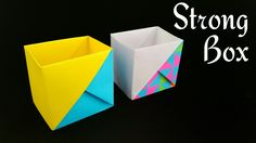 """How to make a Paper """"Strong Dual Tone Box"""" using A4 paper - Useful Origa..."""
