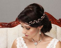 bridal hair comb wedding hair piece rhinestone crsystal pearl gold silver rose gold tiara hair accessory wreath headband hair vine halo hair style
