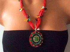 Boho necklace Beaded necklace Handmade necklace Long by myheartt