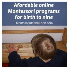Affordable Montessori programs for birth to 9 years old affiliate links on ChristianMontessoriNetwork.com