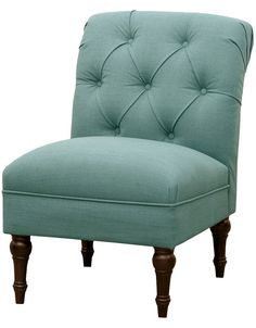 Tufted Back Slipper Chair