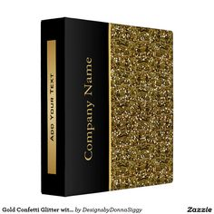 #Gold #Confetti #Glitter Print with Gold Accents Vinyl #Binders #office #zazzlebesties #zazzle  Note: This is a print. $20.95