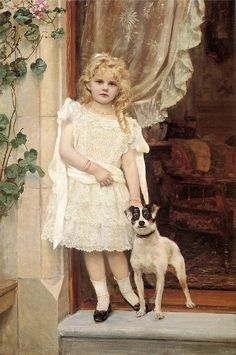 """""""My Best Friend"""" by Robert Cree Crawford (1842 – 1924,English)"""