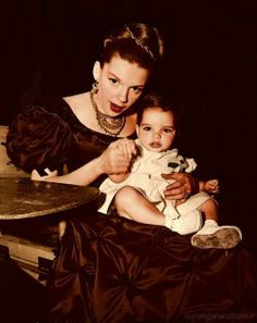 Judy Garland and her daughter Liza Minnelli on the set of 'The Pirate' - 1948