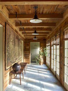 Japanese Screen, Meditation Space, Wood Ceilings, Wall Lantern, Old Farm, Big Houses, Farmhouse Design, Exterior Paint, House Tours