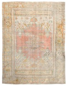 Antique Oushak Rugs (Turkish) Number 18802, Antique Turkish Rugs   Woven Accents