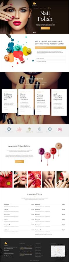 Kendall is a stylish and amazing #WordPress theme for #manicure #Nailart spa, hair and beauty salons #website with 12+ unique homepage layouts download now➩ https://themeforest.net/item/kendall-a-stylish-theme-for-spa-hair-beauty-salons/18601371?ref=Datasata