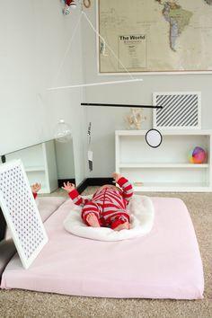 family room | Montessori baby movement area