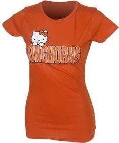 Ladies Longhorns Hello Kitty Tee  #UT #Longhorns #Cute #Fashion