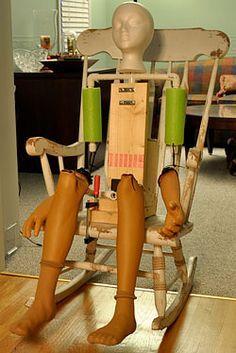 Wiper Motor Rocker- creepy Halloween rocking chair