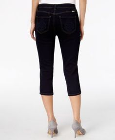 Inc International Concepts Embroidered Curvy Cropped Jeans, Only at Macy's - White 12