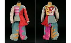 From the Golden Age of the Ballet Russe. Costumes were designed by Picasso, Matisse, Miro, Chanel, Derain, George Braque, Delaunay, de Chirico, and Jean Cocteau. Not sure who designed this one, but it looks like Matisse.