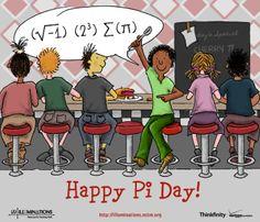 i 8 sum Pi! Happy Pi Day everyone! Math Cartoons, Math Comics, Math Jokes, Math Humor, Teacher Hacks, Math Teacher, Math Classroom, Teaching Math, Teaching Ideas