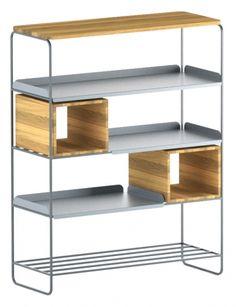 MODULO REGAŁ 99x129 minimalistyczny regał stalowo-drewniany polski design Mebloscenka Shelves, Home Decor, Shelving, Decoration Home, Room Decor, Shelving Units, Home Interior Design, Planks, Home Decoration