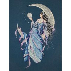 moon goddess | SELENE, THE MOON GODDESS - Broderie à points comptés (PASSIONE ...