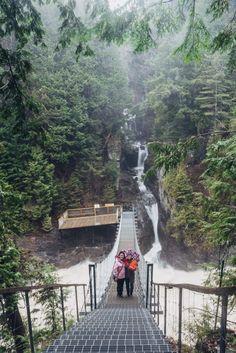 Sainte-Anne Canyon Waterfall, Quebec City, Canada