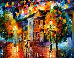 PALETTE KNIFE Oil Painting On Canvas By Leonid Afremov