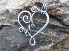 wire heart pendant by brite