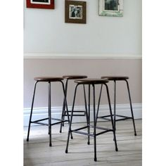 Set of Four Vintage Research Stools