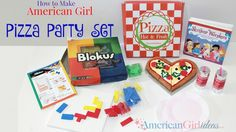 Learn how to make American Girl Pizza Party set for your dolls! Your dolls will love having a pizza party with their friends!