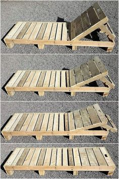 This wood pallet sun lounger is a simple but the most-attractive wood pallets pr… - Pallet Furniture Ideas Pallet Furniture Designs, Pallet Garden Furniture, Diy Outdoor Furniture, Diy Furniture, Garden Pallet, Furniture From Pallets, Furniture Removal, Furniture Vintage, Furniture Outlet
