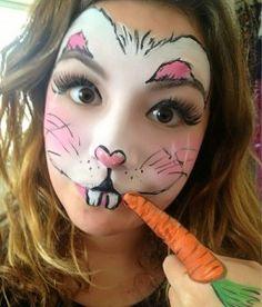 Easter Bunny Face Makeup - Mugeek Vidalondon