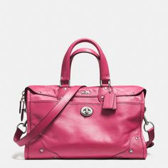 The Rhyder Satchel In Leather from Coach. Comes in a great selection of colors. Pricey at $495. You'll want to see one in person. Looks amazing online.