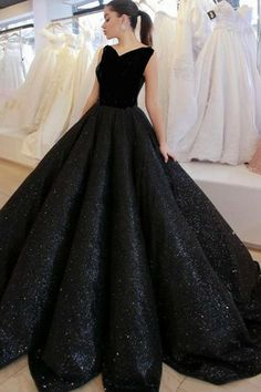 Black V Neck Sequined Ball Gown Prom Dress Black Prom Dresses, Prom Dresses V-neck, Ball Gown Prom Dresses, Prom Dresses, Sleeveless Prom Dresses Prom Dresses 2020 Indian Gowns Dresses, V Neck Prom Dresses, Black Prom Dresses, Ball Gowns Prom, Evening Dresses, Dress Prom, Party Dresses, Dress Black, Black Ball Gowns