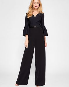 c6f087f64270 Full sleeve jumpsuit - Black | Clothing | Ted Baker Formal Jumpsuit, Prom  Jumpsuit,
