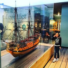 Model of HMS Victory Horatio Nelson's ship in the famous battle of Trafalgar at Greenwich National Maritime Museum!